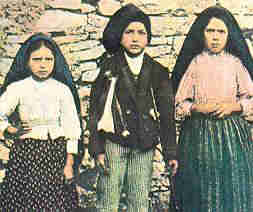 Jacinta, Francisco, Lucy - the children of Fatima