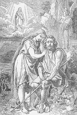 Adam and Eve are banished from the Garden of Eden
